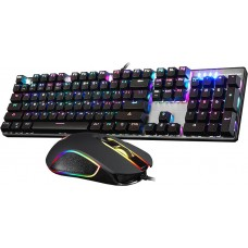 Motospeed CK888 Wired mechaninal keyboard mouse combo Blue Switch RGB GR Layout