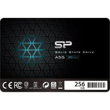 "SILICON POWER SSD A55 256GB, 2.5"", SATA III, 560-530MB/s 7mm, TLC"