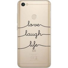 Inos Θήκη TPU Xiaomi Redmi Note 5 (Dual SIM) Art Theme Love-Laugh-Life