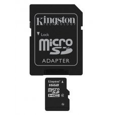KINGSTON Memory Card MicroSD SDC4/16GB, Class 4, SD Adapter