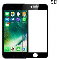 POWERTECH Tempered Glass 5D Full Glue για iPhone 8 Plus, Black TGC-0237