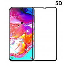 POWERTECH Tempered Glass 5D, Full Glue, Samsung A70 SM-A705F, μαύρο