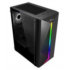 POWERTECH Gaming case PT-848, tempered glass, 80mm fan, PSU 500W PT-864