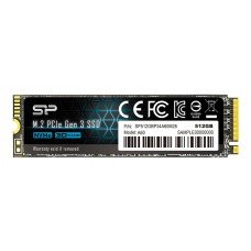 SILICON POWER SSD PCIe Gen3x4 P34A60 M.2 2280, 512GB, 2.200-1.600MB/s