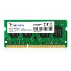 ADATA RAM SODIMM 4GB ADDS1600W4G11-S, DDR3L, 1600MHz, CL11, SINGLE TRAY, LTW.