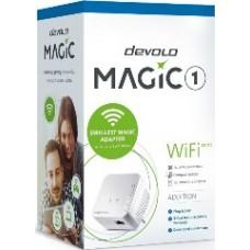 DEVOLO POWERLINE MAGIC 1 WIFI MINI EU SINGLE (8559), 1x MAGIC 1 WiFi Mini (WIRELESS) ADAPTER, 1200Mbps, SHUKO, AC POWER OUT SOCKET, 3YW.