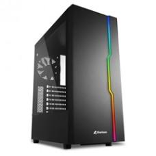 SHARKOON PC CHASSIS RGB SLIDER, MIDI TOWER ATX, BLACK, W/O PSU, 1x12CM REAR FAN, 2YW.